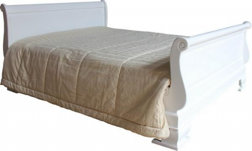 Sleigh Bed with Regular Footboard